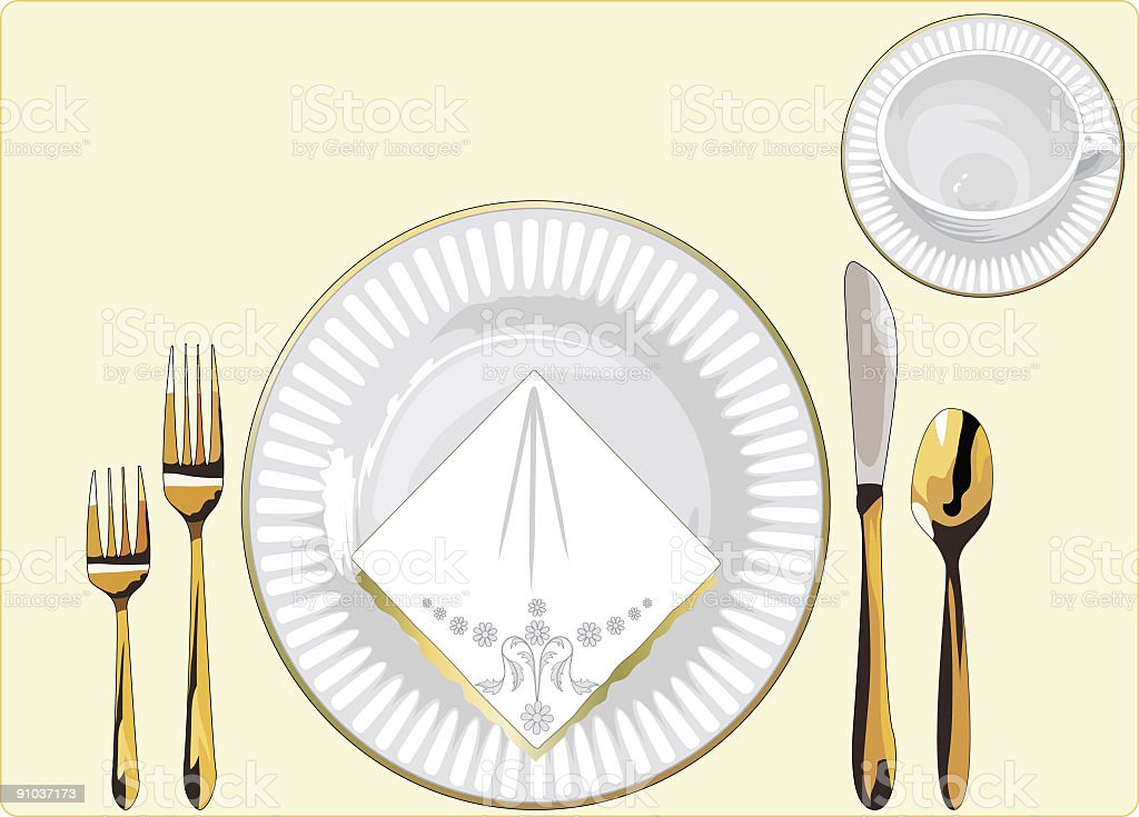 Formal Place Setting vector art illustration