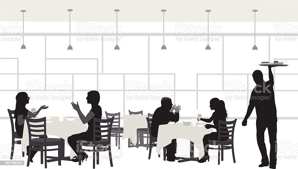 Formal Service Vector Silhouette vector art illustration