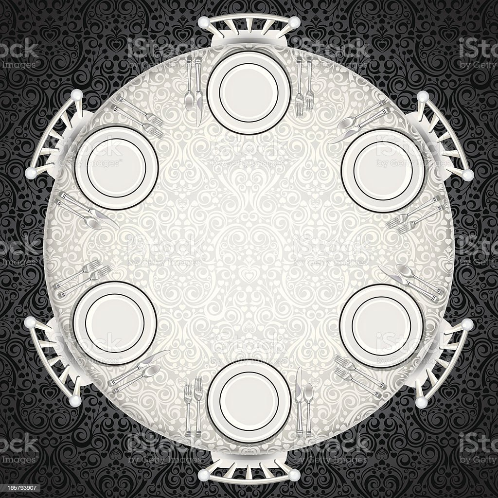 Formal Table Setting vector art illustration