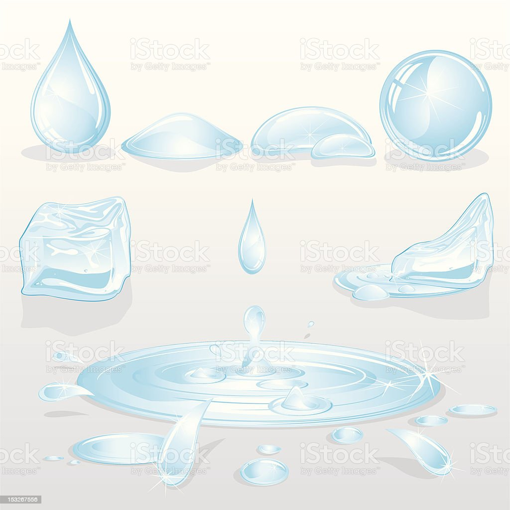 Forms of Water vector art illustration