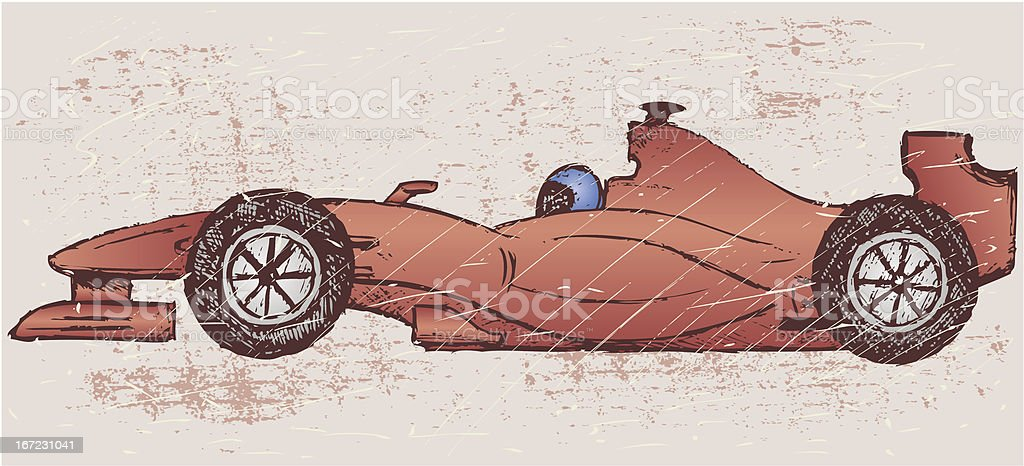 Formula 1 race royalty-free stock vector art