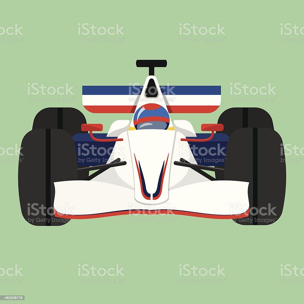 Formula 1 Sport Race Car vector art illustration