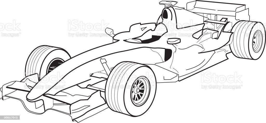 Formula 1 vector art illustration