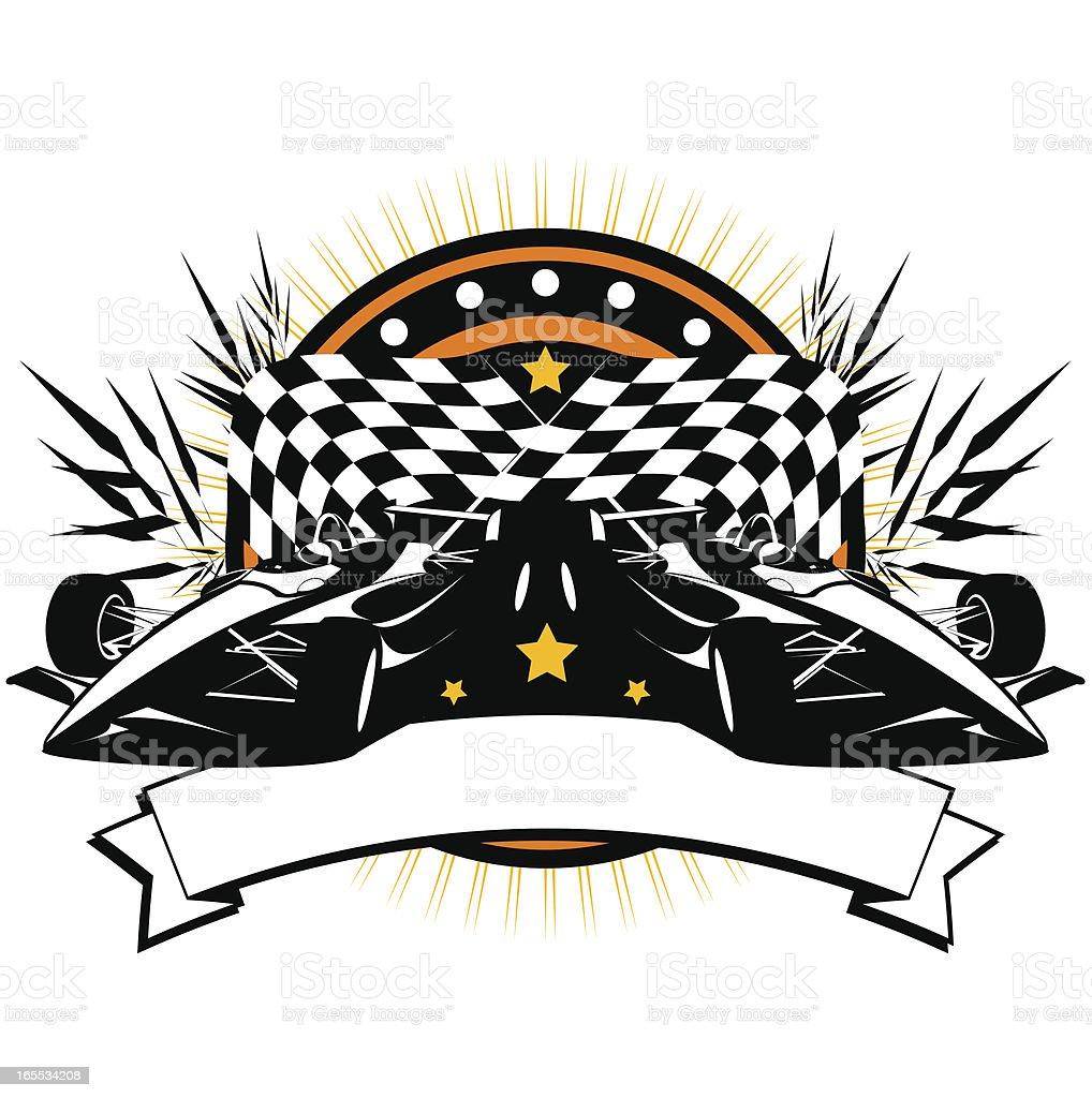 Formula car banner vector art illustration