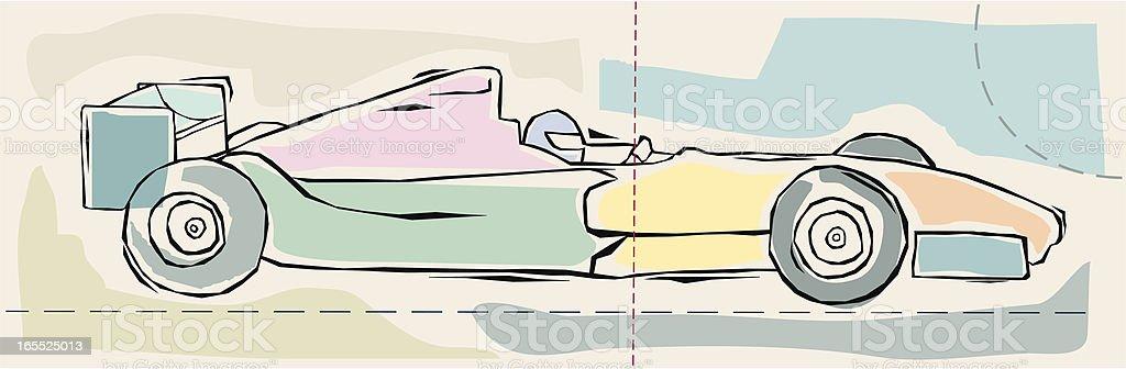 Formula One Car vector art illustration