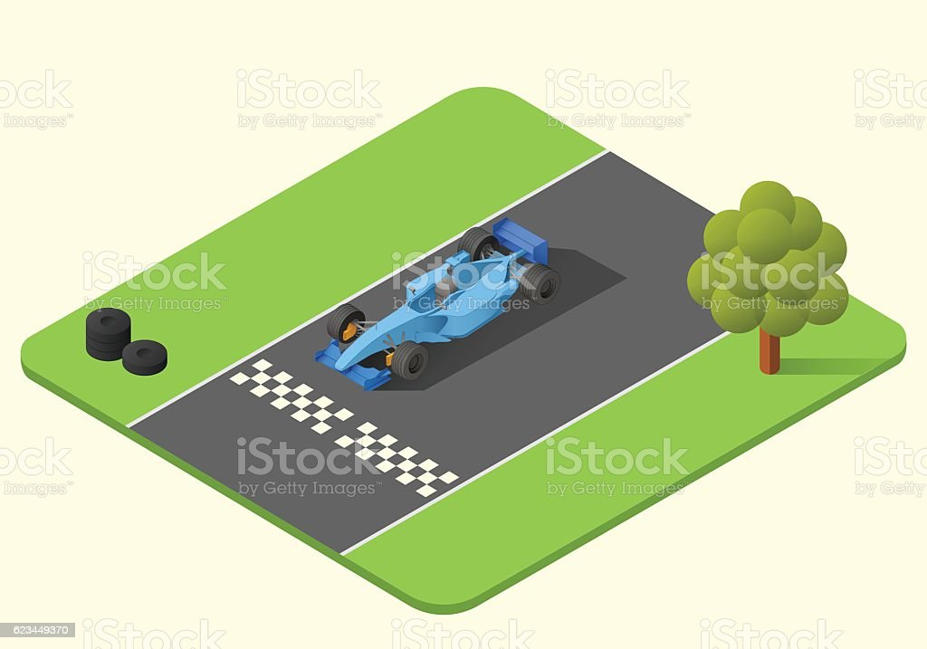 formula one race car vector art illustration