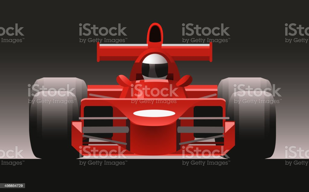 F1 Formula One Racing Icon Car Front View vector art illustration
