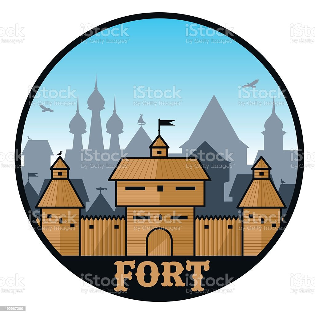fort 001 vector art illustration