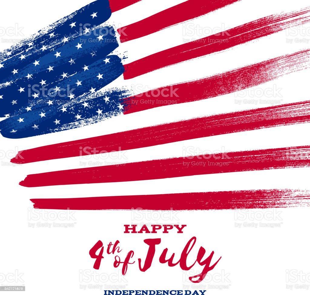 Forth July Independence day background design. vector art illustration