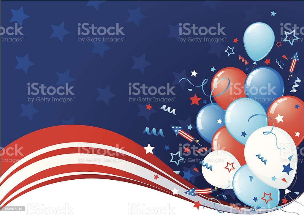 Forth of July background royalty-free stock vector art