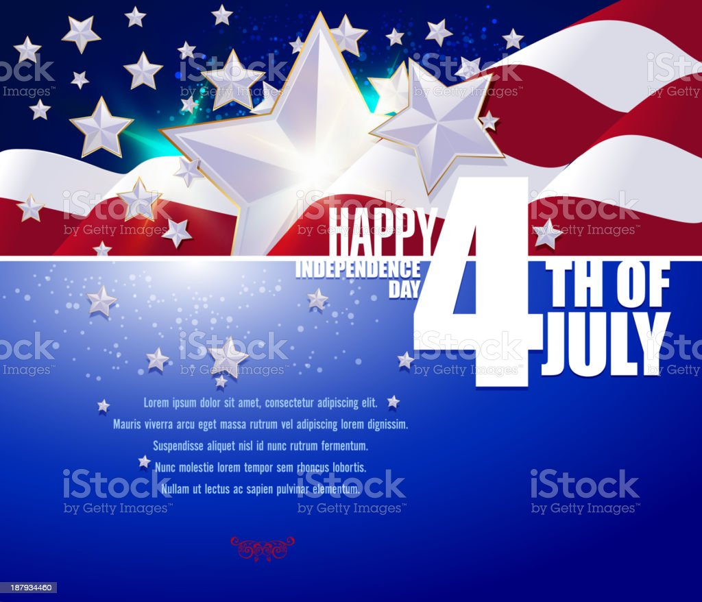 A forth of July flyer or banner royalty-free stock vector art