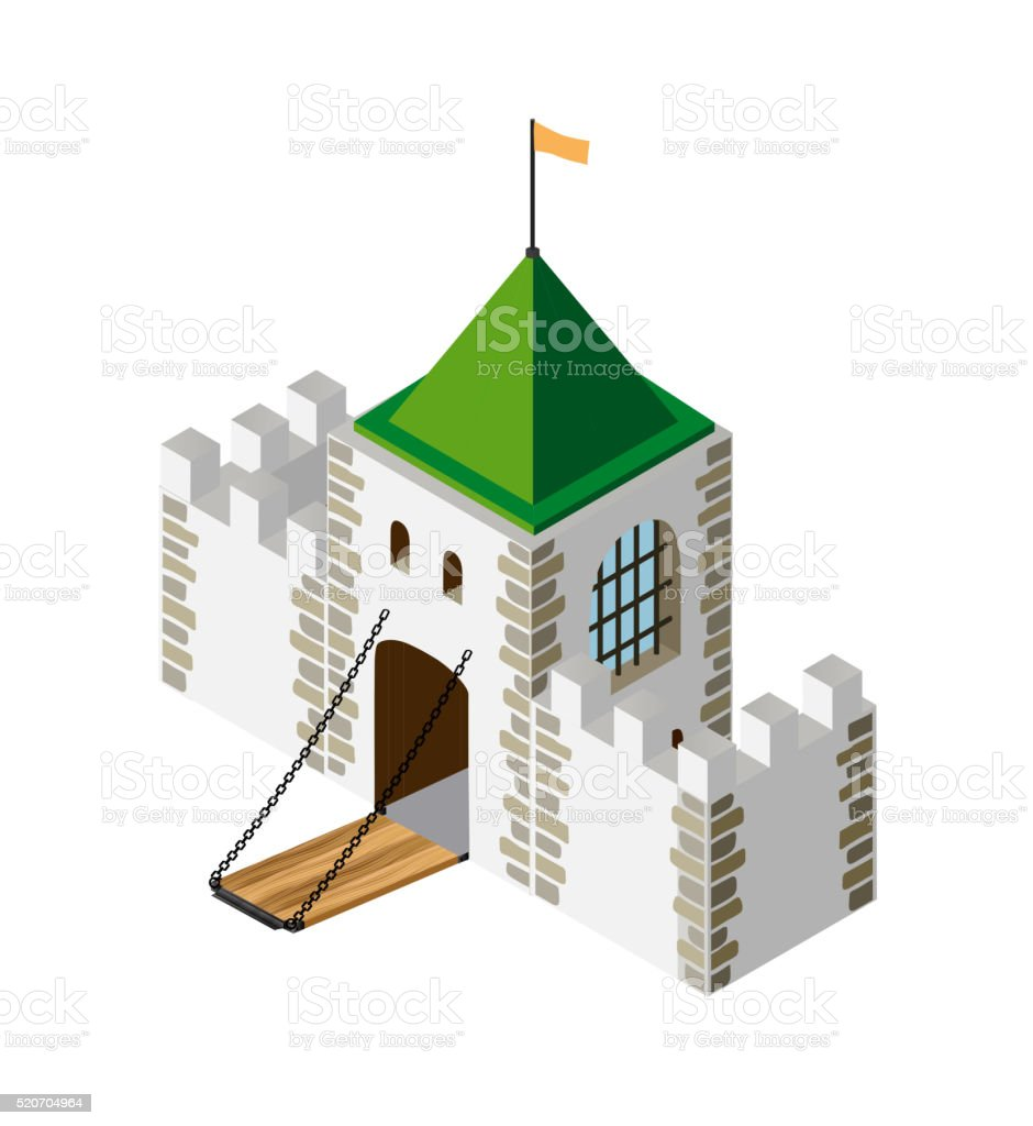 Fortress protection guard vector art illustration