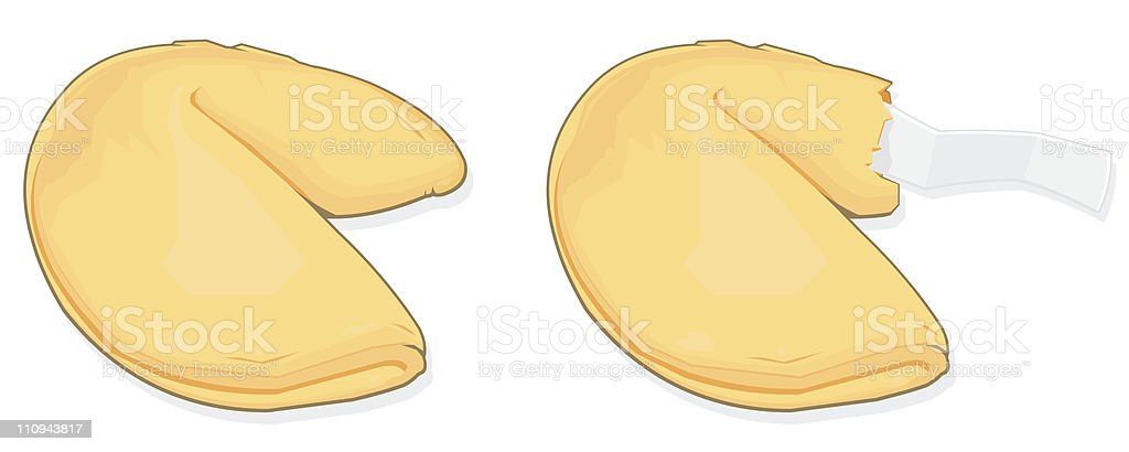 Fortune Cookie vector art illustration