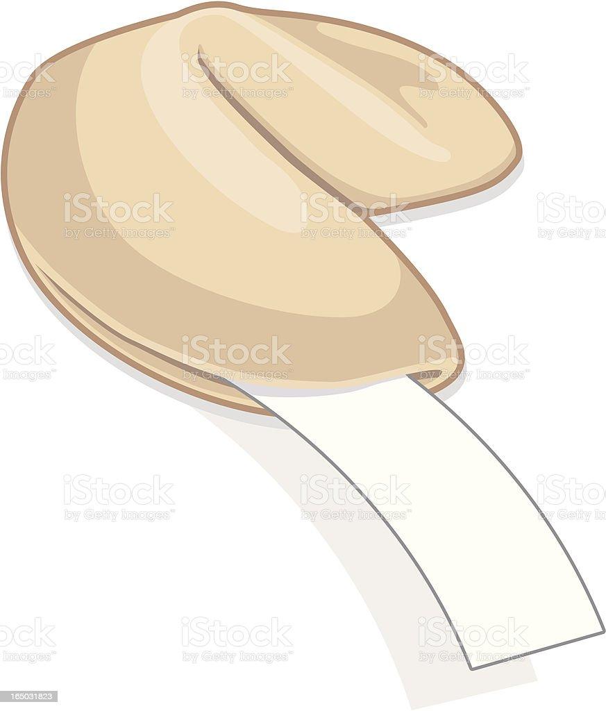 Fortune Cookie (vector & jpg) royalty-free stock vector art