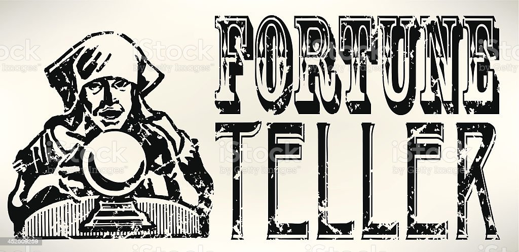 Fortune Teller - Crystal Ball vector art illustration