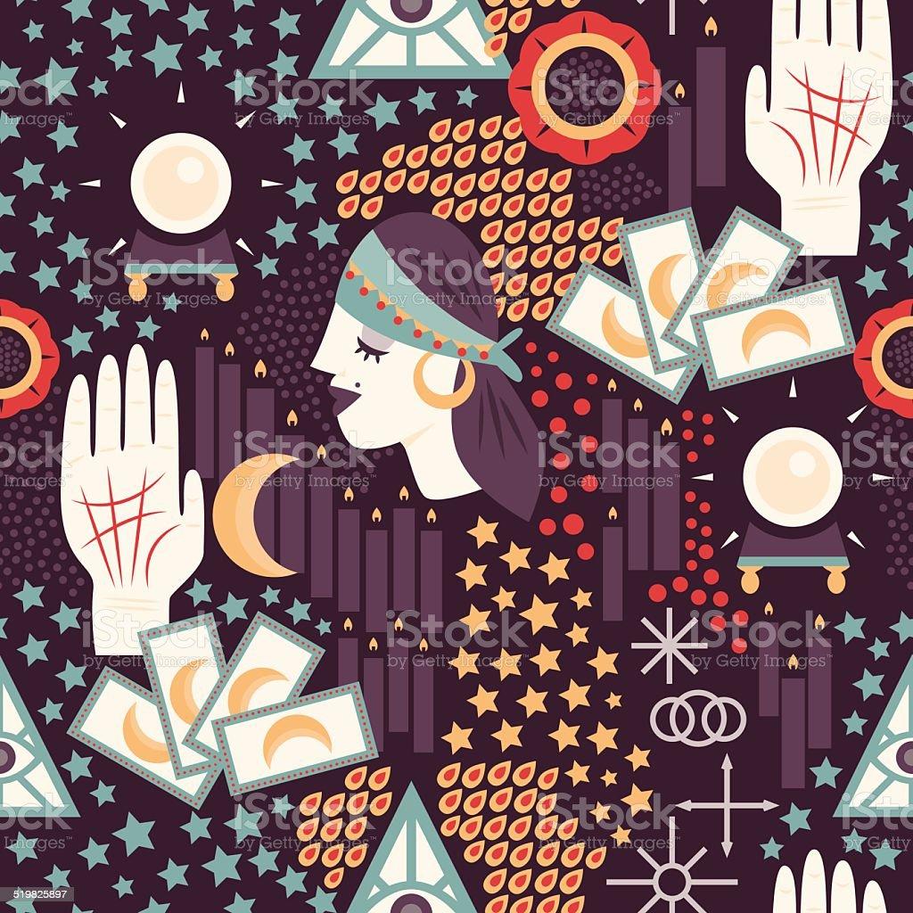 Fortune Teller Pattern vector art illustration