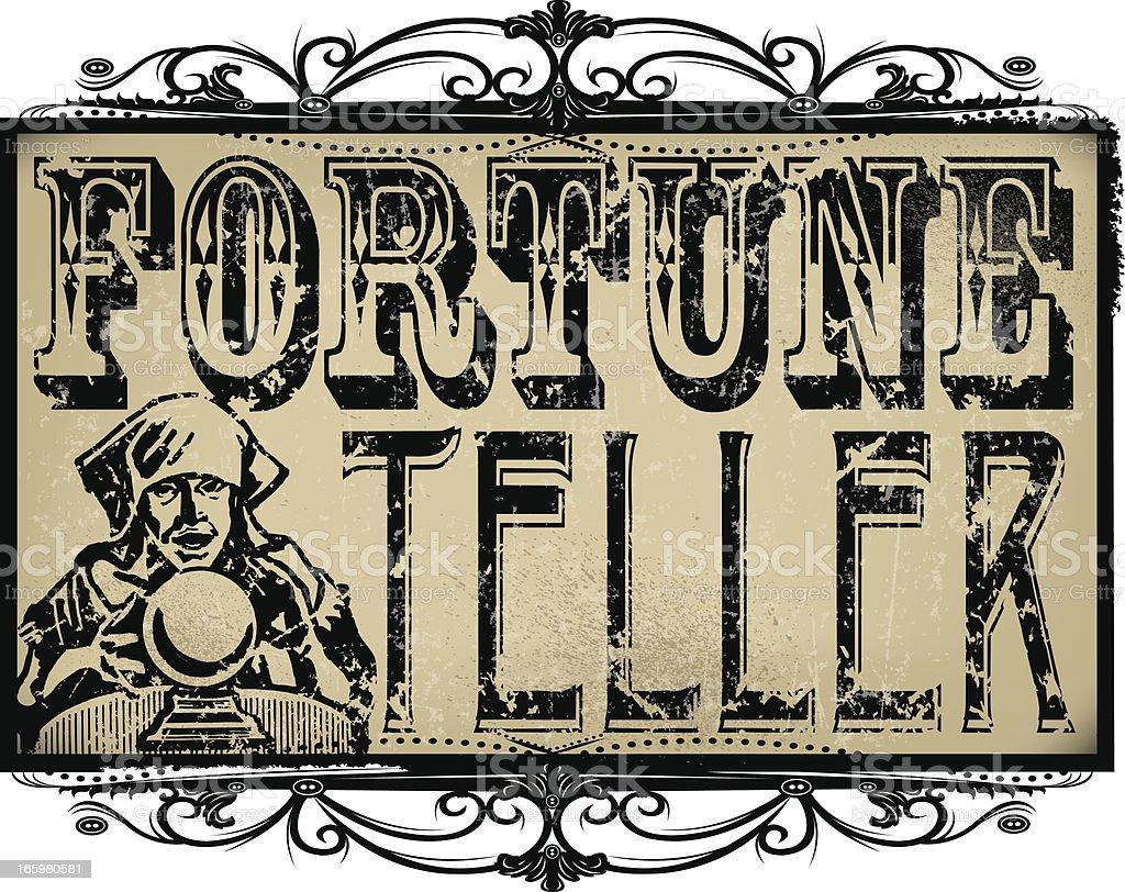 Fortune Teller Sign vector art illustration