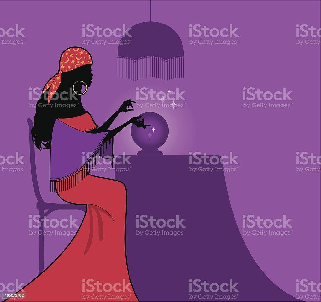 Fortune Teller vector art illustration