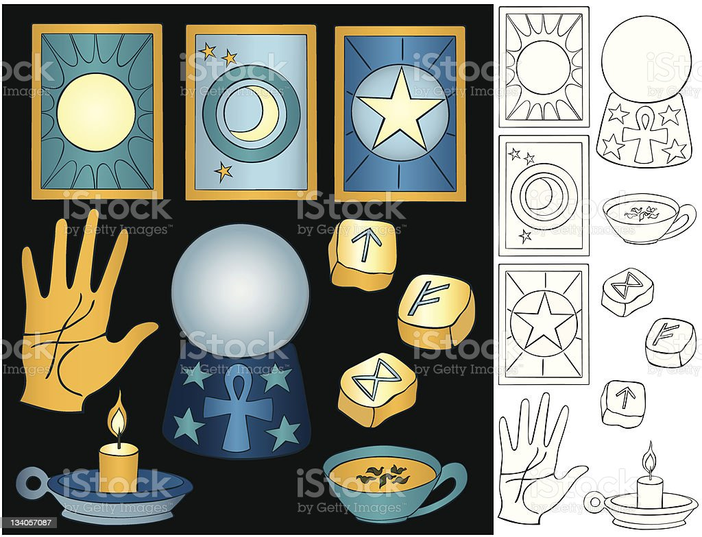 Fortune Telling Elements royalty-free stock vector art