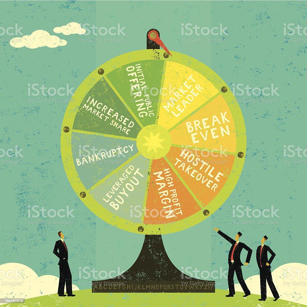 Fortune Wheel vector art illustration