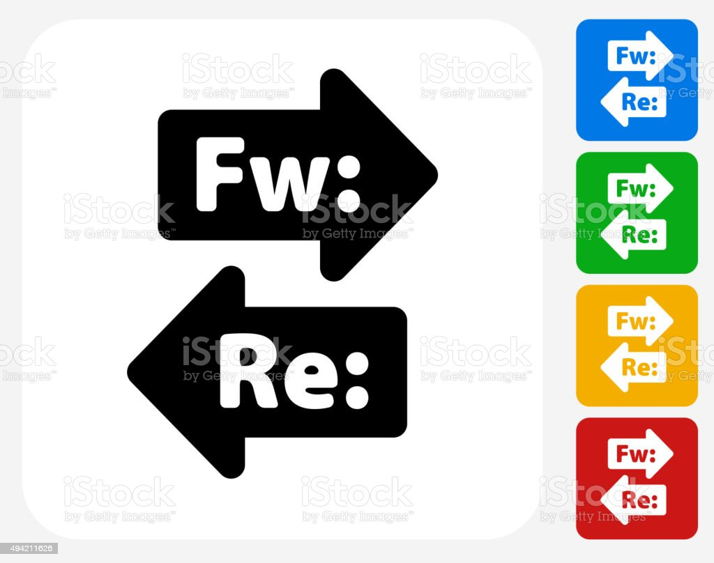 Forward and Reply Icon Flat Graphic Design vector art illustration