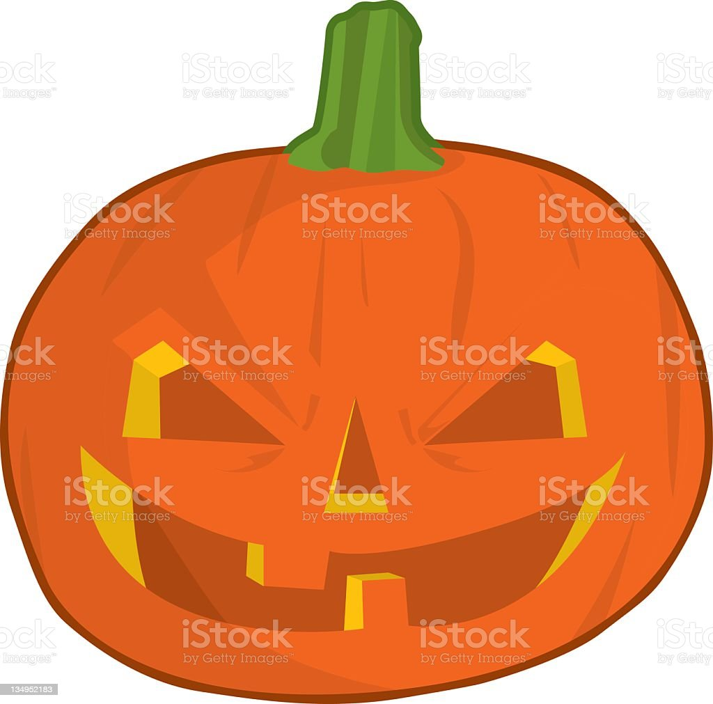 Forward facing Halloween Pumpkin royalty-free stock vector art