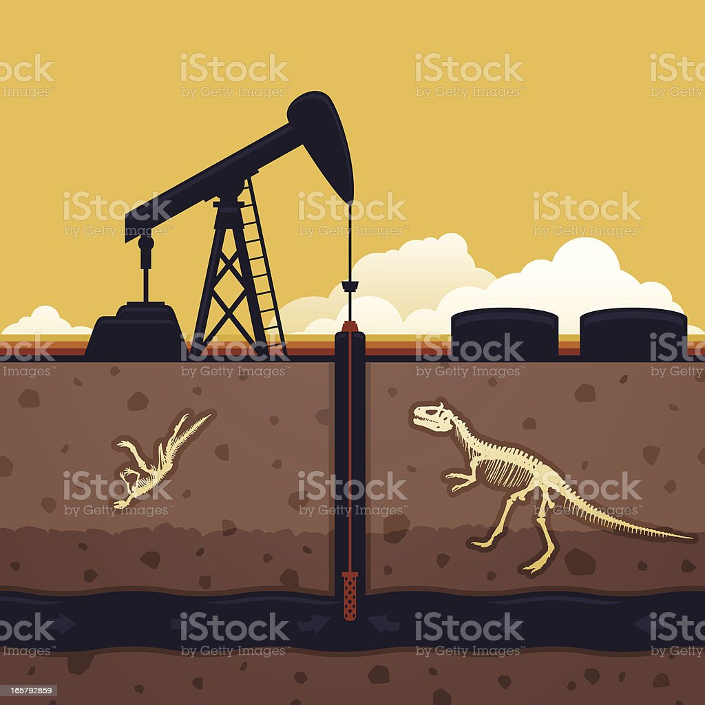 Fossil Fuel royalty-free stock vector art