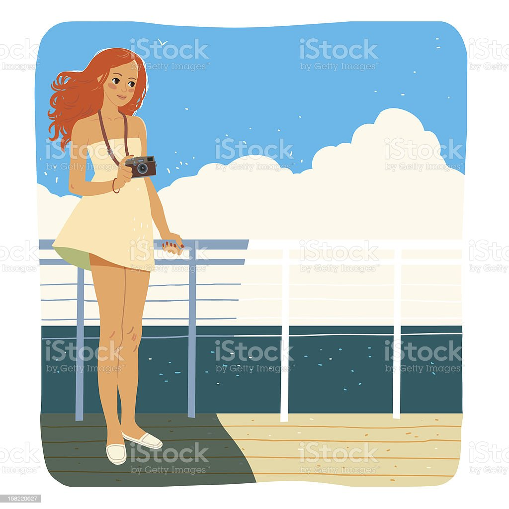 Fotographer on deck royalty-free stock photo