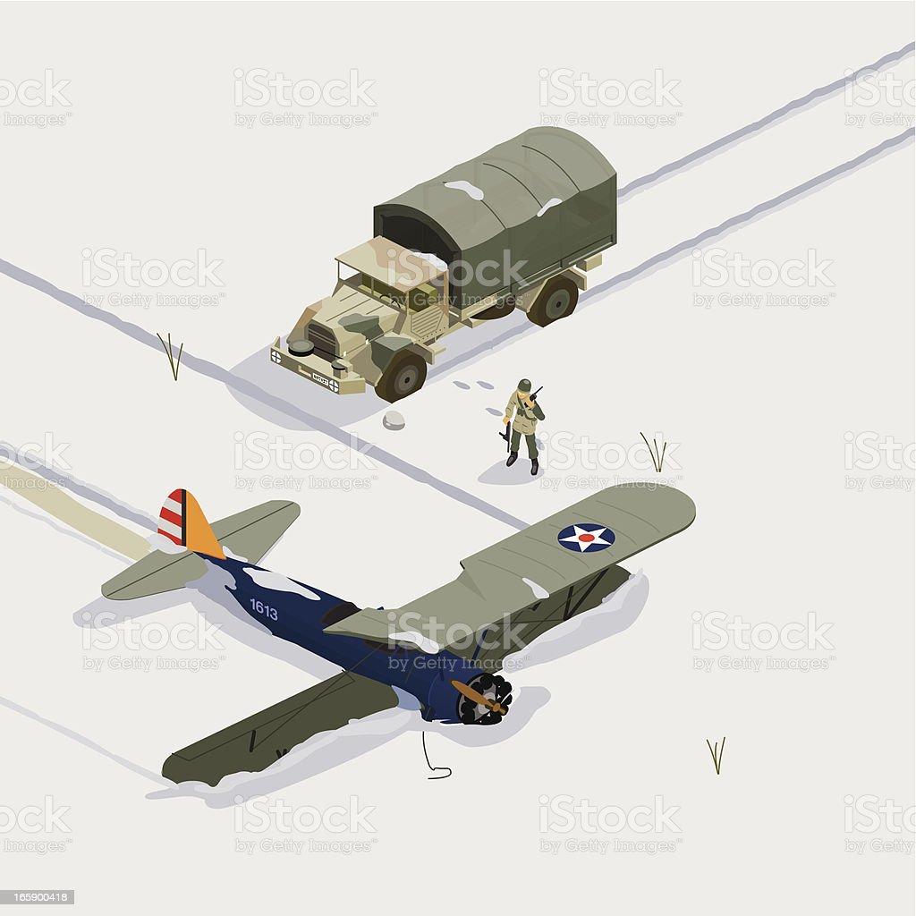 found airplane vector art illustration