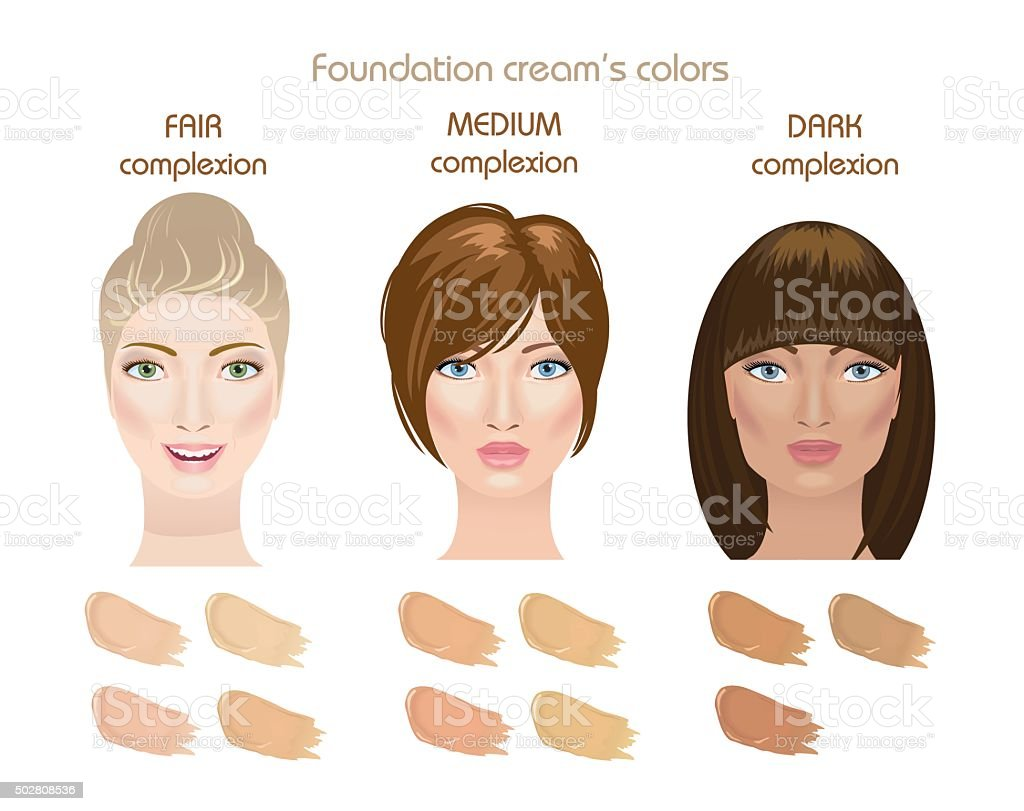 Foundation cream colors vector art illustration
