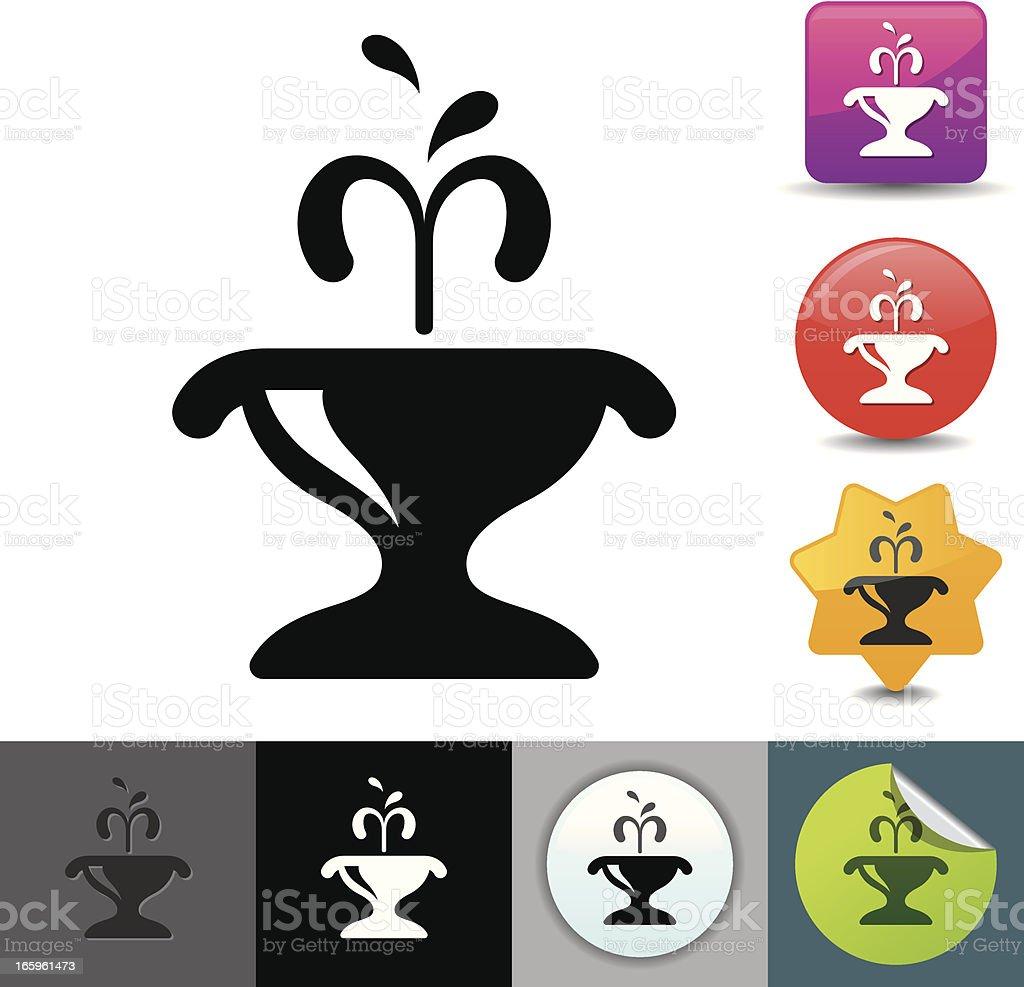 Fountain icon | solicosi series vector art illustration