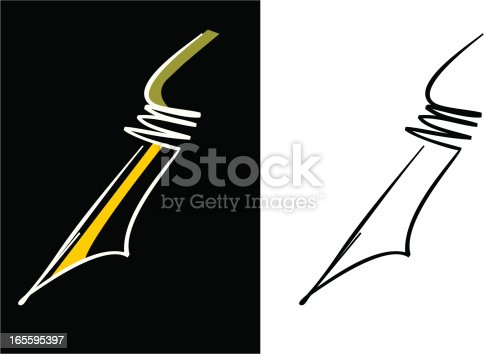 Fountain Pen Nib stock vector art 165595397 | iStock