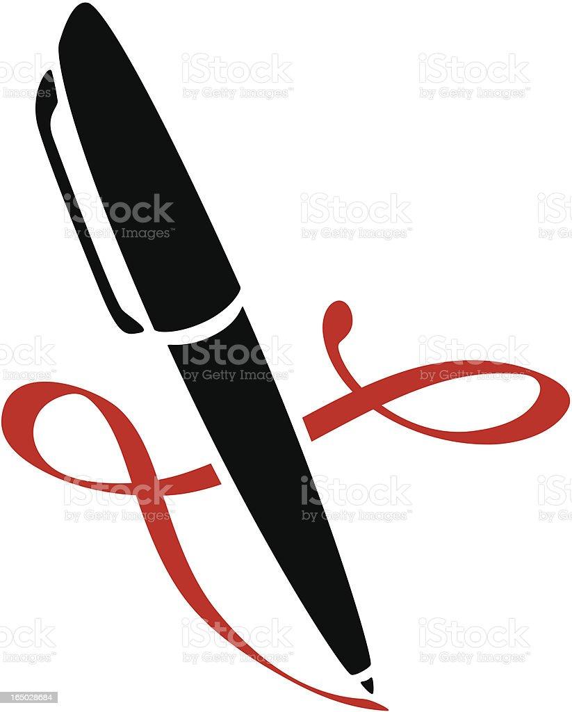Fountain Pen royalty-free stock vector art