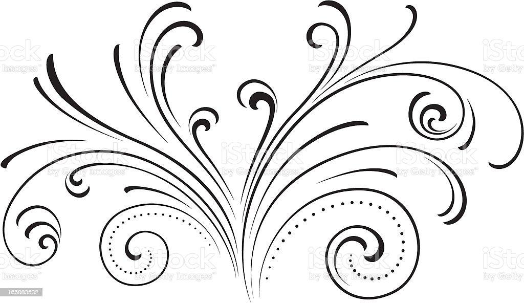 Fountain swirl vector art illustration