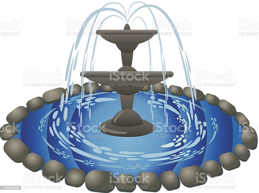 fountain vector art illustration