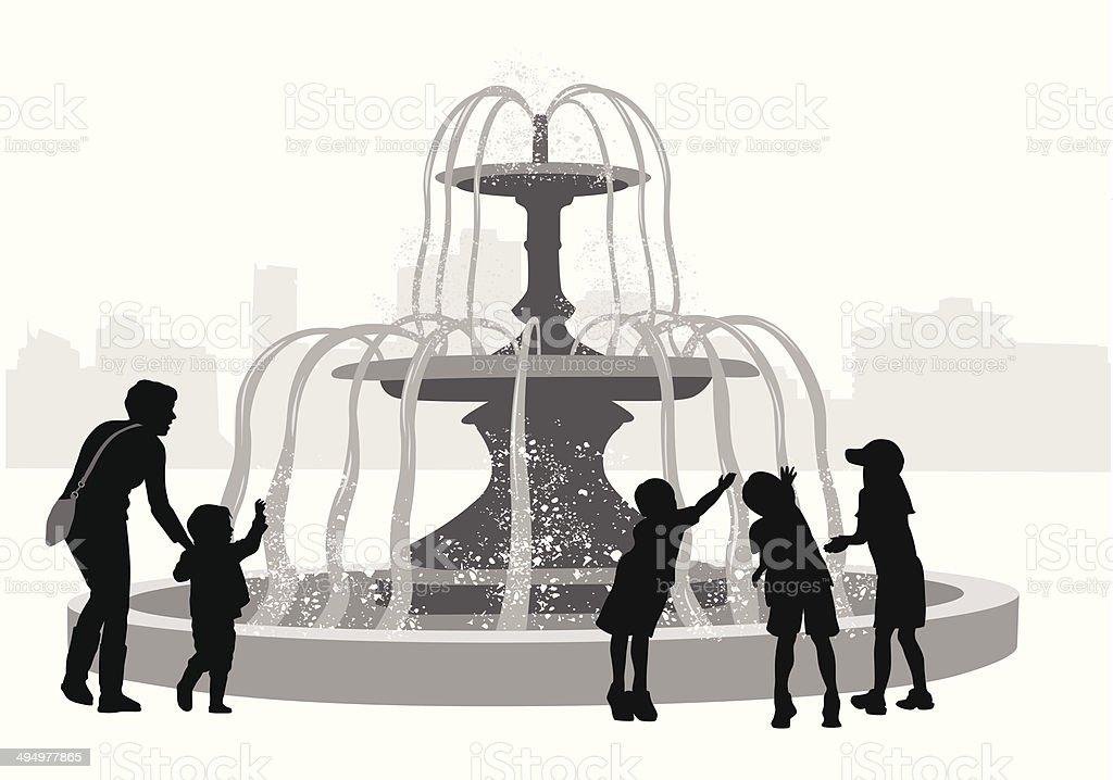 FountainFun vector art illustration