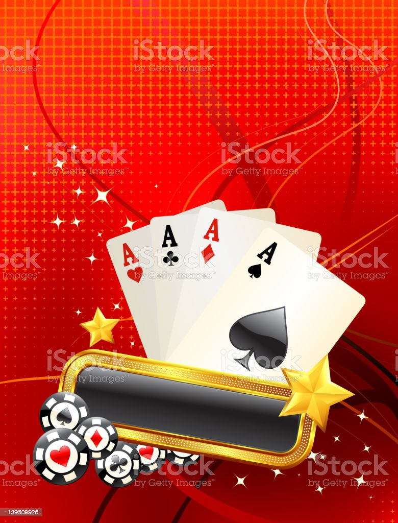 four aces on modern Background royalty-free stock vector art