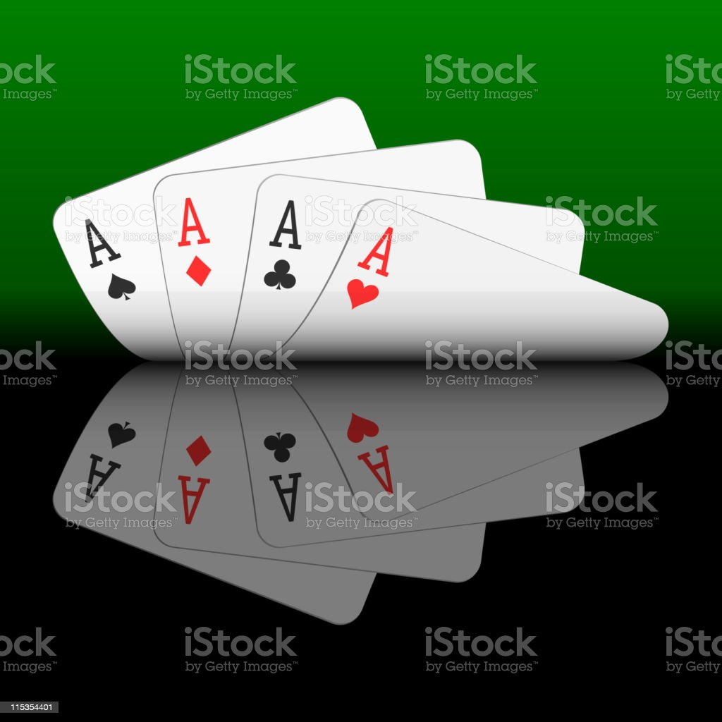 Four aces vector art illustration