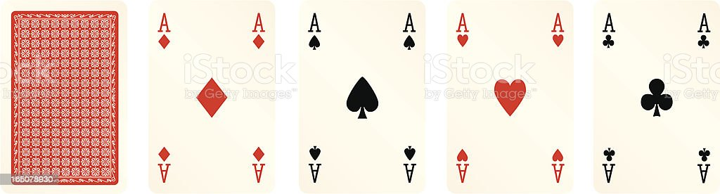 Four Aces royalty-free stock vector art