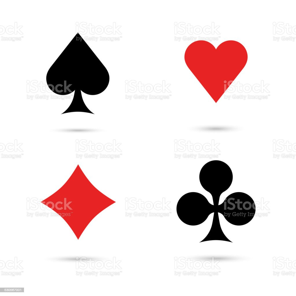 Four aces vector art illustration