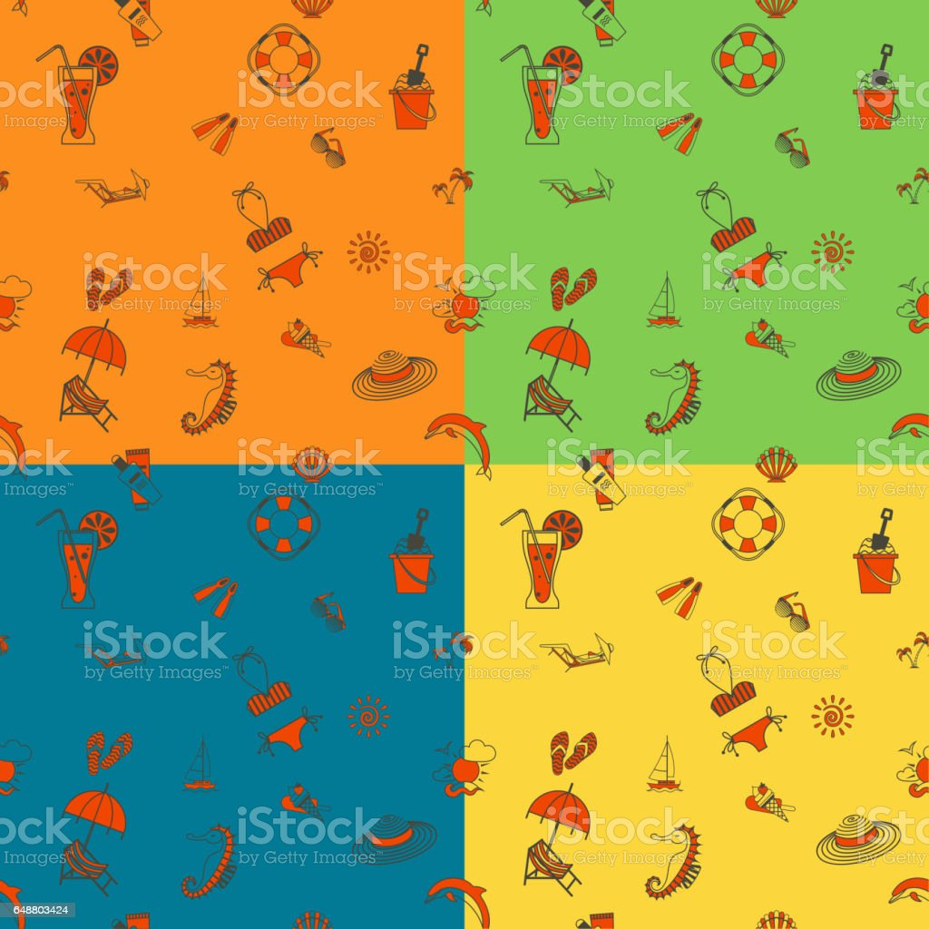 Four Background in Different Colors vector art illustration