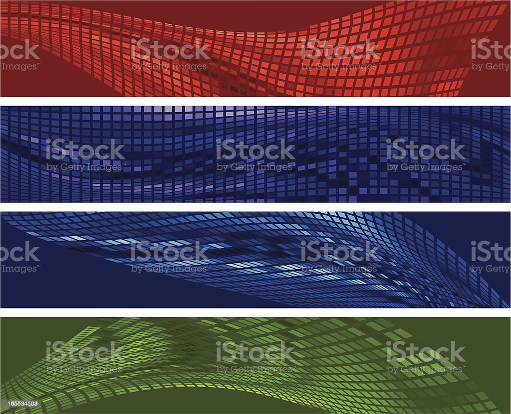 Four banners royalty-free stock vector art