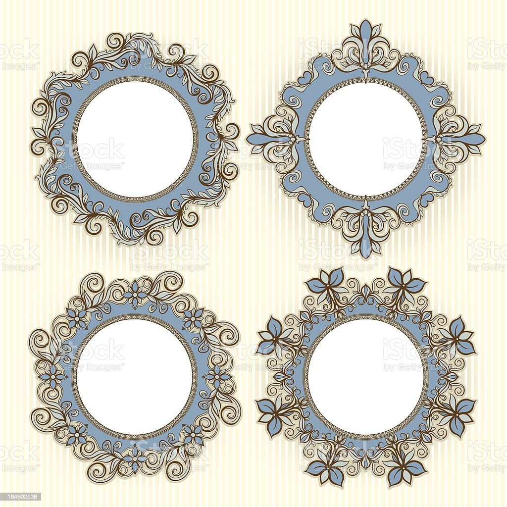 four beautiful frames royalty-free stock vector art