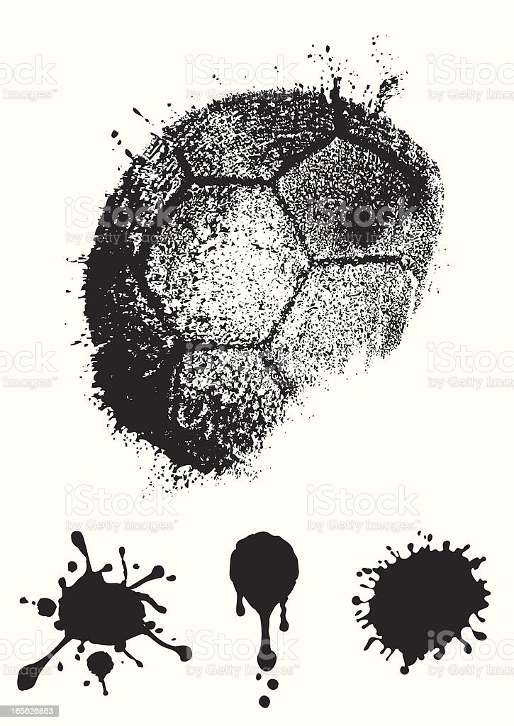 Four black ink splashes on paper royalty-free stock vector art