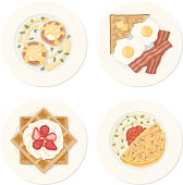 Four Breakfast Plates