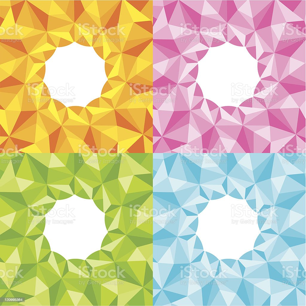Four bright abstract background royalty-free stock vector art