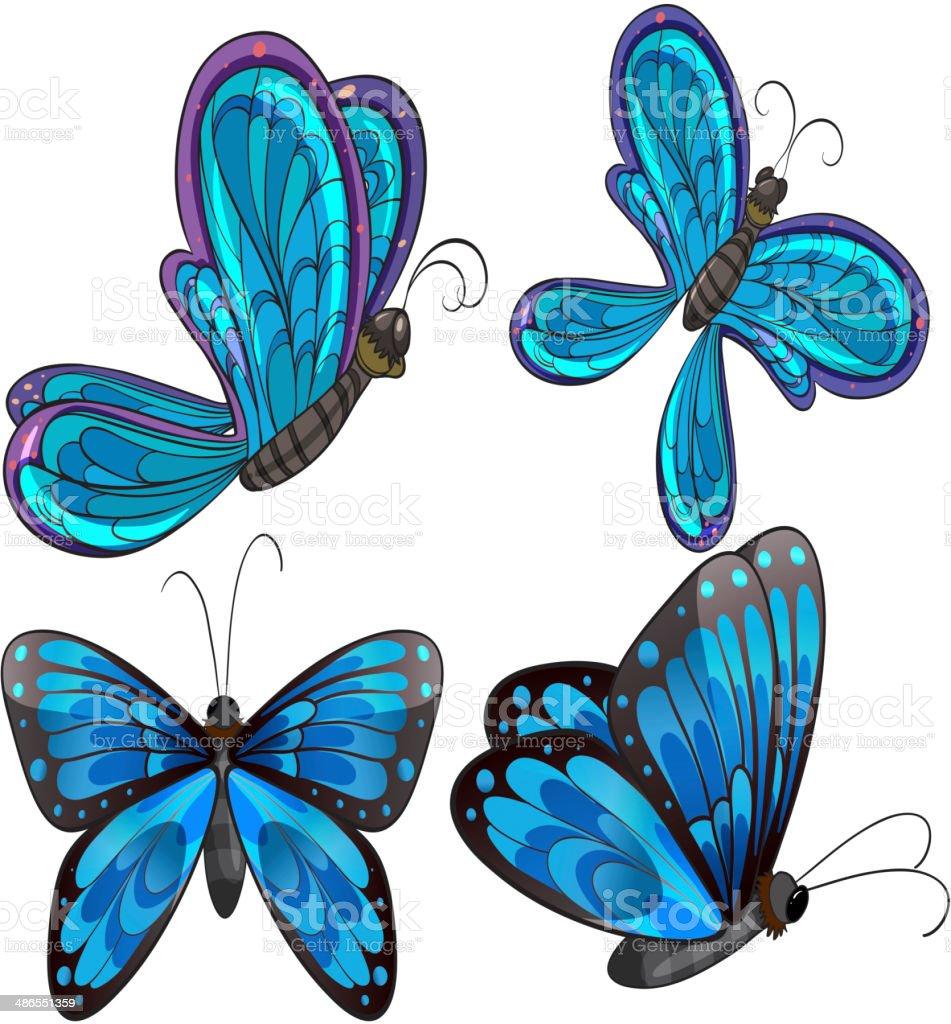 Four butterflies royalty-free stock vector art