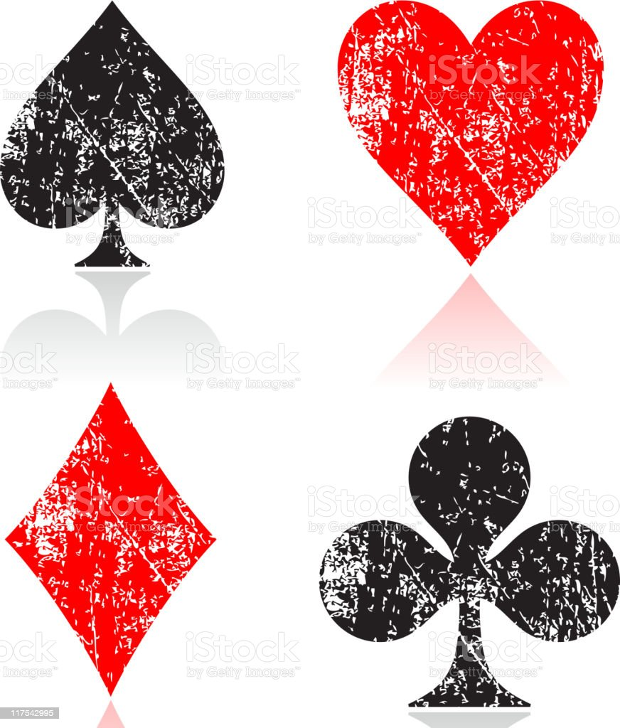 four card suits royalty-free stock vector art