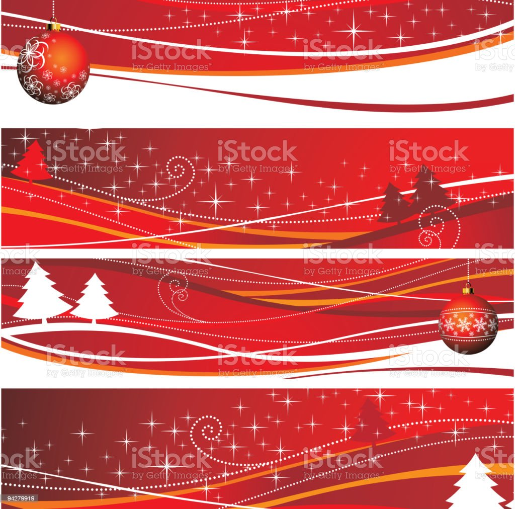 Four Christmas banner royalty-free stock vector art
