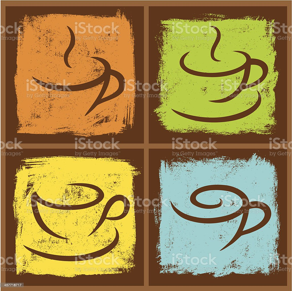 Four Coffee Frames royalty-free stock vector art